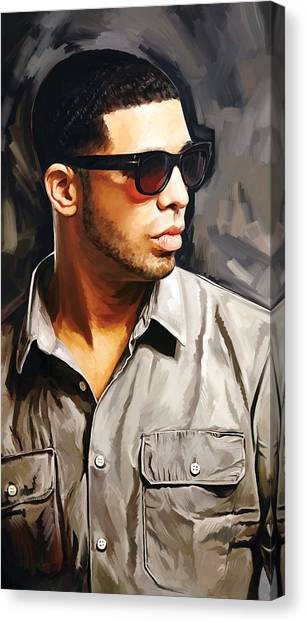 Hip Hop Canvas Print - Drake Artwork 2 by Sheraz A