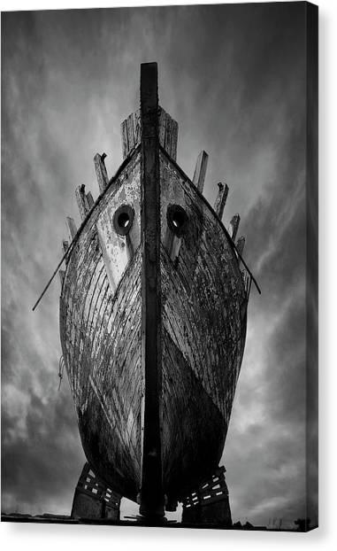 Dock Canvas Print - Drakkar by Sebastien Del Grosso