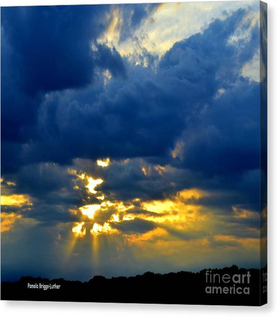 Dramatic Clouds Canvas Print