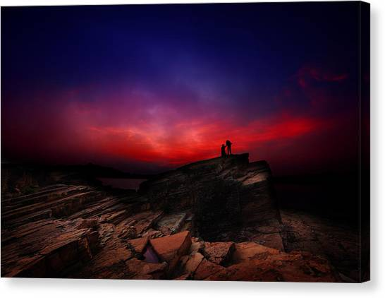 Dramatic Dawn Canvas Print