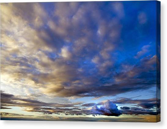 Sunset Horizon Canvas Print - Dramatic by Betsy Knapp