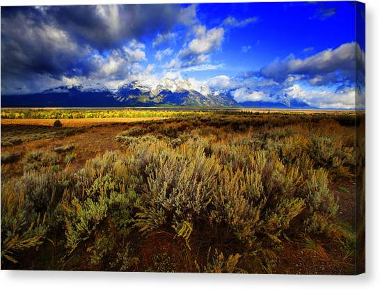 Dramatic Jackson And Salt Lake Canvas Print