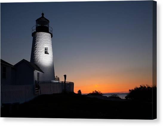 Dramatic Lighthouse Sunrise Canvas Print