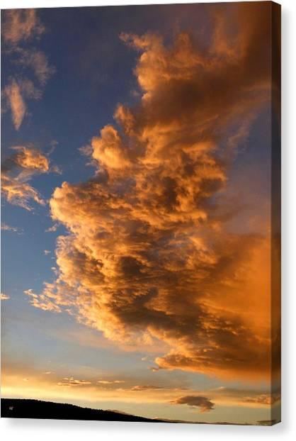 Okanagan Valley Canvas Print - Dramatic Okanagan Sunset by Will Borden