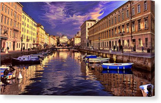Dramatic Skies Over Trieste Canvas Print