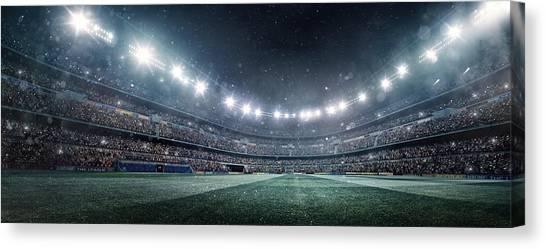 Dramatic Soccer Stadium Panorama Canvas Print by Dmytro Aksonov