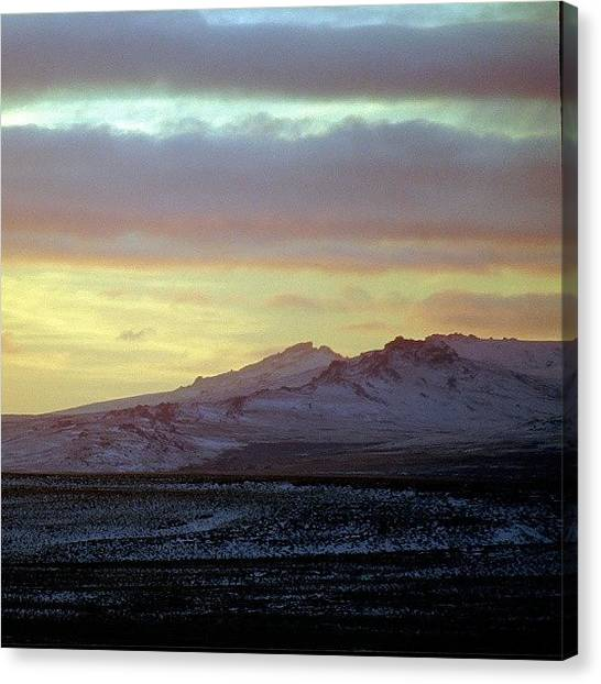 Metallic Canvas Print - Dramatic Sunset by Tony Webb