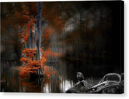 Dramaticlake2 Canvas Print by Cecil Fuselier