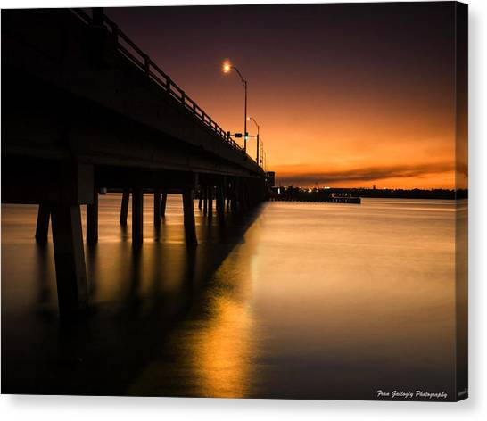 Drawbridge At Sunset Canvas Print