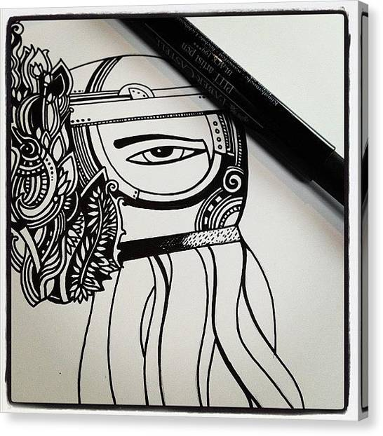 Squids Canvas Print - Drawing #ink #penandink #cephalopod by Megan Smith