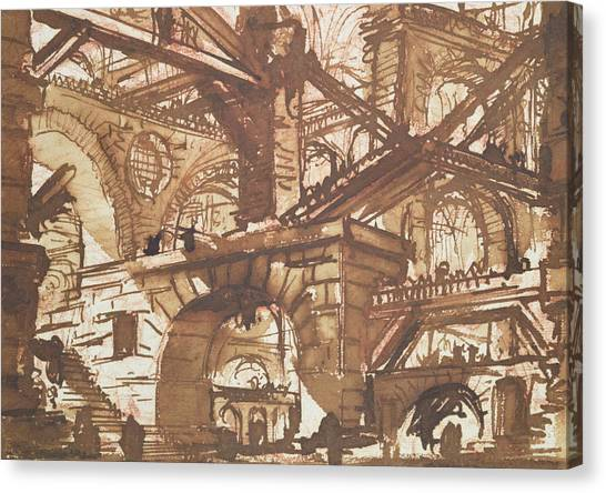 Dungeons Canvas Print - Drawing Of An Imaginary Prison by Giovanni Battista Piranesi