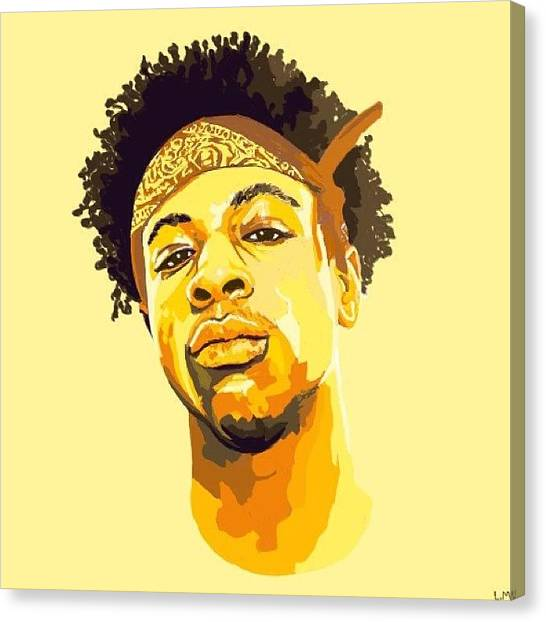 Draw Canvas Print - Drawing That I Made Of Joey Bada$$ Plz by Liam Moher