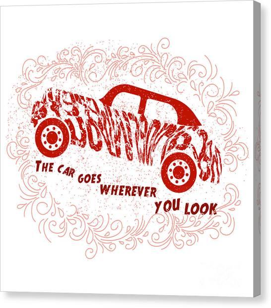Concept Canvas Print - Drawn Typography Poster With A by Liliya  Mekhonoshina