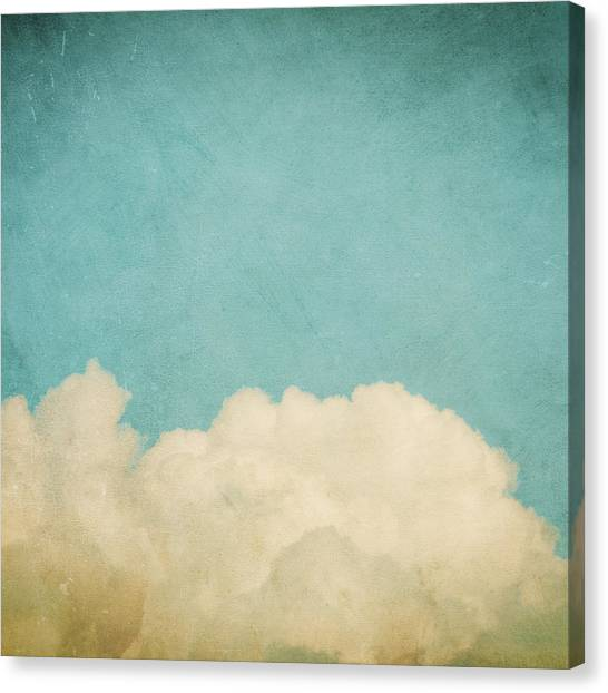 Clouds Canvas Print - Dream A Little Dream by Violet Gray