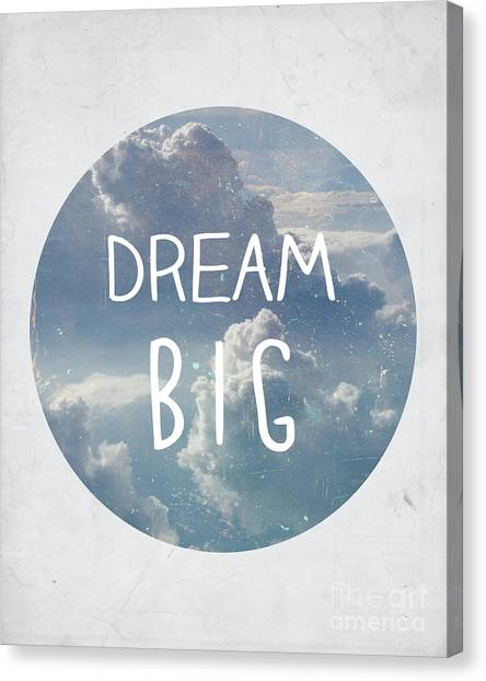 Clouds Canvas Print - Dream Big by Pati Photography