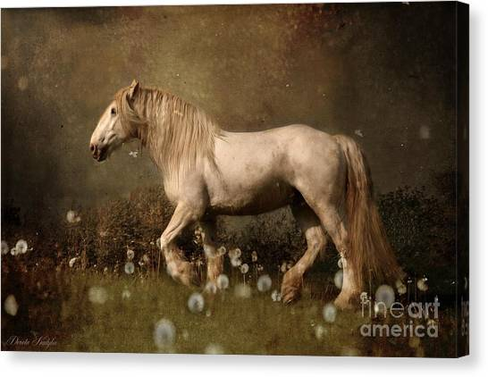 Draft Horses Canvas Print - Dream Guardian by Dorota Kudyba