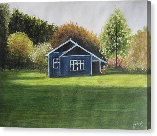 Dream House Canvas Print by Usha Rai