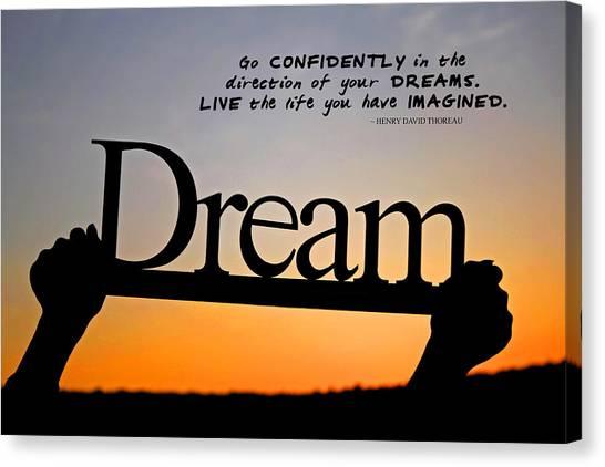 Dream - Inspirational Quote Canvas Print