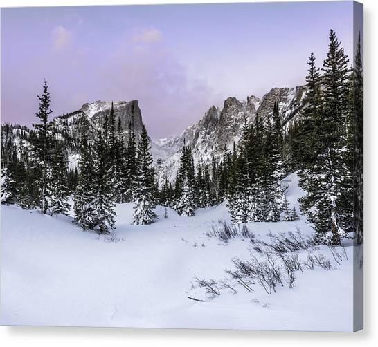 Dream Lake Sunrise Canvas Print by Robert Yone