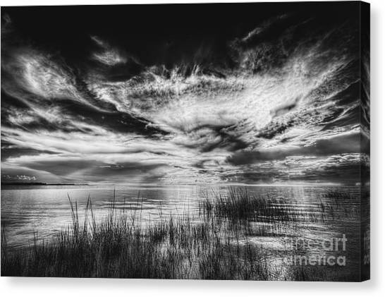 Thunder Bay Canvas Print - Dream Of Better Days-bw by Marvin Spates