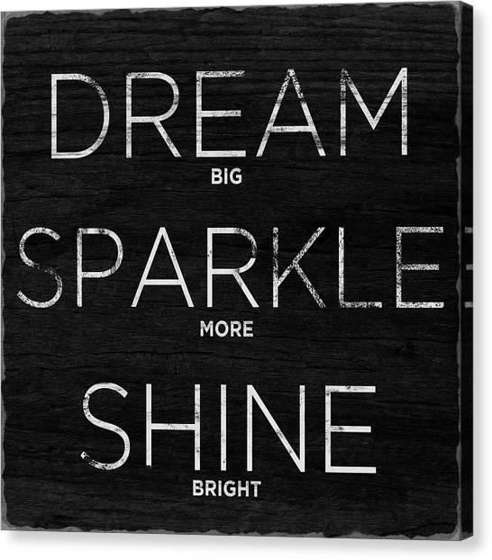 Office Canvas Print - Dream, Sparkle, Shine (shine Bright) by South Social Studio