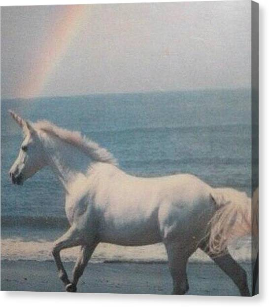 Unicorns Canvas Print - #dream #unicorn #punkdream #once #ever by Katty Foxx