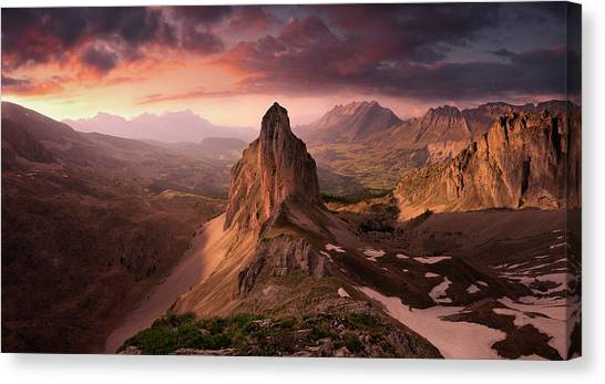 Alps Canvas Print - Dream Valley by Arzur Michael