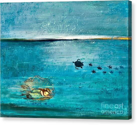 Oysters Canvas Print - Dreaming Mermaid by Shijun Munns