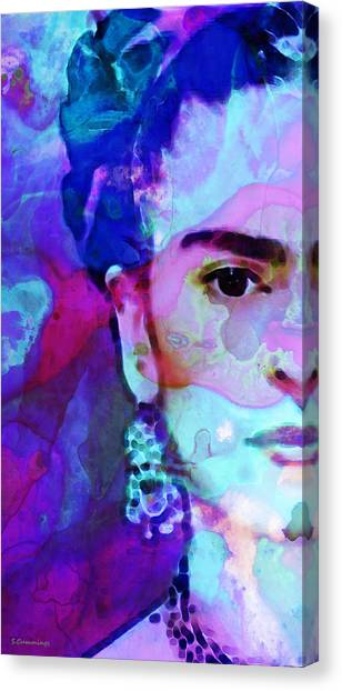 Famous Artists Canvas Print - Dreaming Of Frida - Art By Sharon Cummings by Sharon Cummings