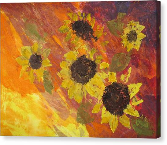 Dreaming Sunflowers Canvas Print
