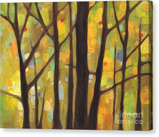 Autumn Leaves Canvas Print - Dreaming Trees 1 by Hailey E Herrera