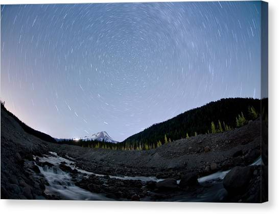 Canvas Print featuring the photograph Dreaming Under The Stars by Margaret Pitcher