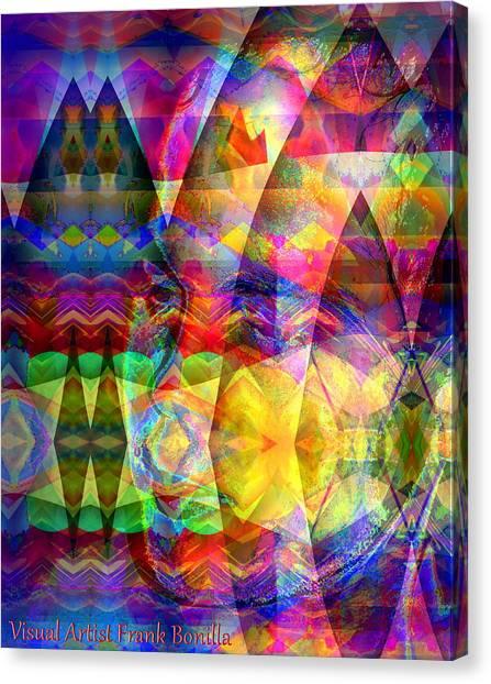 Canvas Print featuring the digital art Dreaming by Visual Artist Frank Bonilla