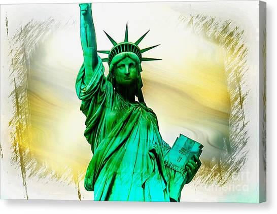 Statue Of Liberty Canvas Print - Dreams Of Liberation by Az Jackson