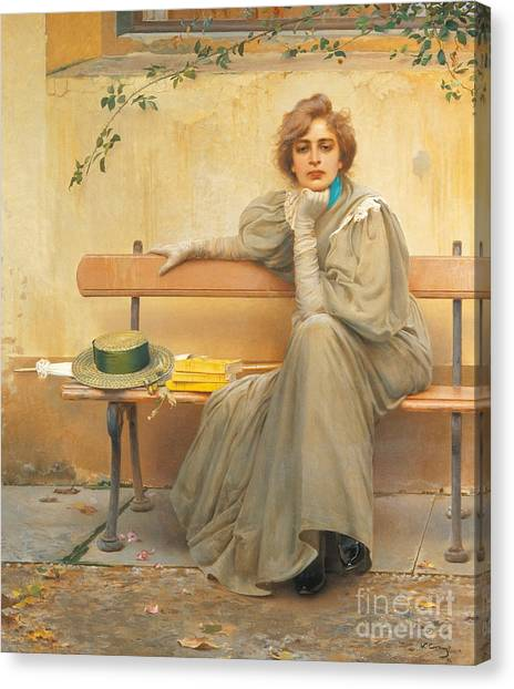 Chin Canvas Print - Dreams  by Vittorio Matteo Corcos