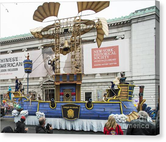 Macys Parade Canvas Print - Dreamseeker Float By Cirque Du Soleil At Macy's Thanksgiving Day Parade by David Oppenheimer