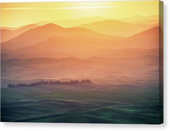 Sunrise Canvas Print - Dreamy Morning by Naphat Chantaravisoot