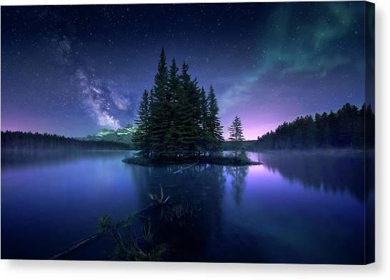 Aurora Borealis Canvas Print - Dreamy Night by Jes??s M. Garc??a