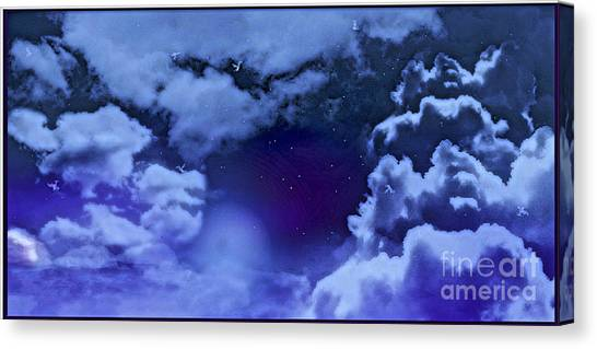 Dreamy Night Canvas Print by Sheikh Designs