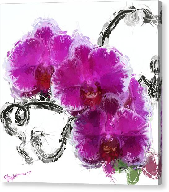 Dreamy Orchids Canvas Print