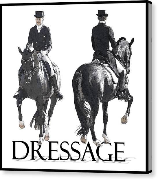 Dressage II Canvas Print