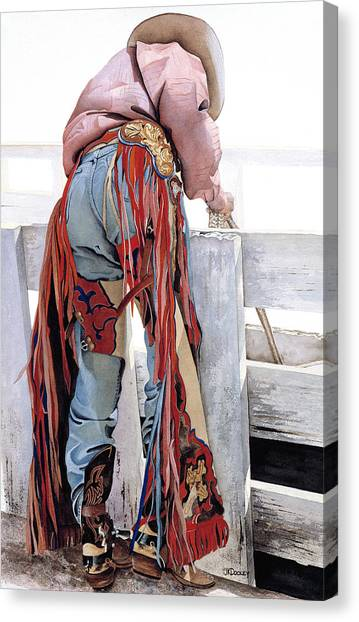 Dressed To Ride Canvas Print