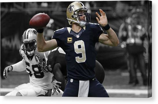 Drew Brees Canvas Print - Drew Brees by Brian Reaves