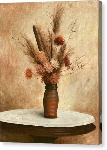 Dried Flower Arrangement Canvas Print