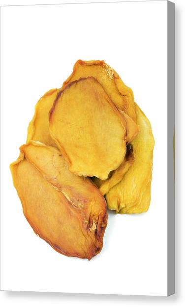 Mangos Canvas Print - Dried Mango Slices by Geoff Kidd/science Photo Library