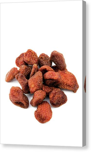 Knockout Canvas Print - Dried Strawberries by Geoff Kidd/science Photo Library