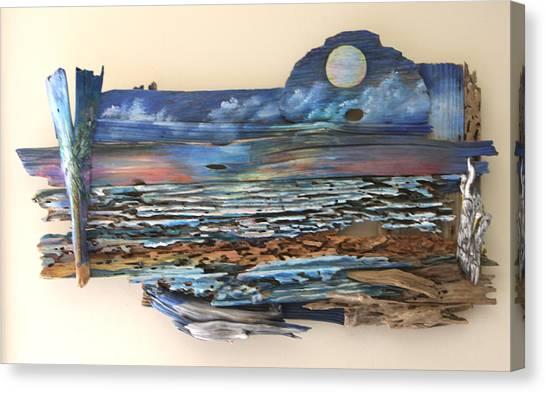 Drift Wood Art  Canvas Print