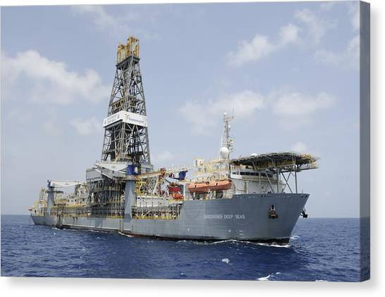 Drillship Discoverer Deep Seas Canvas Print