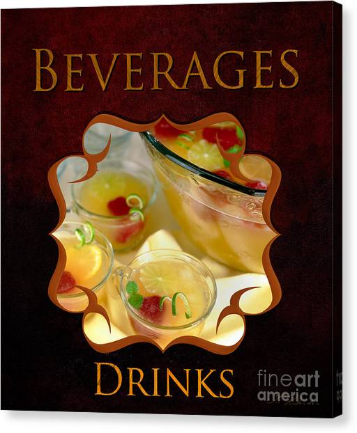 Iced Tea Canvas Print - Drings And Beverages Gallery by Iris Richardson