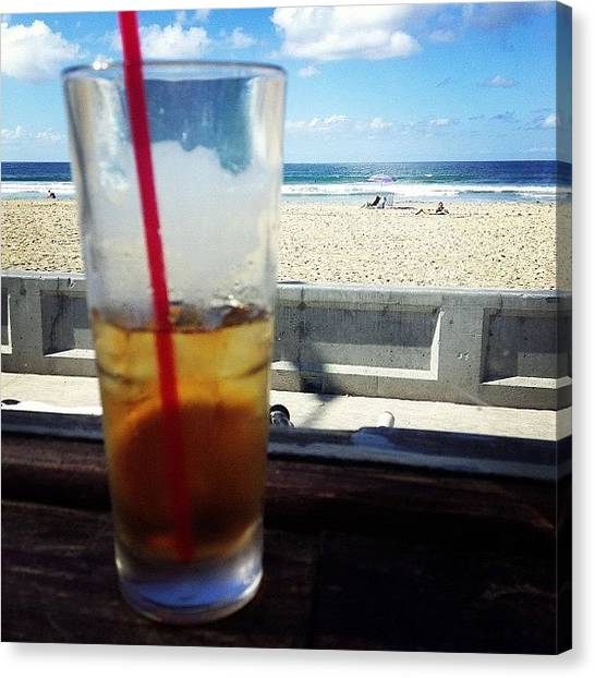 Iced Tea Canvas Print - Drink By The Beach by Lindsey  Patterson